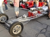 Front view of twin engine drag car