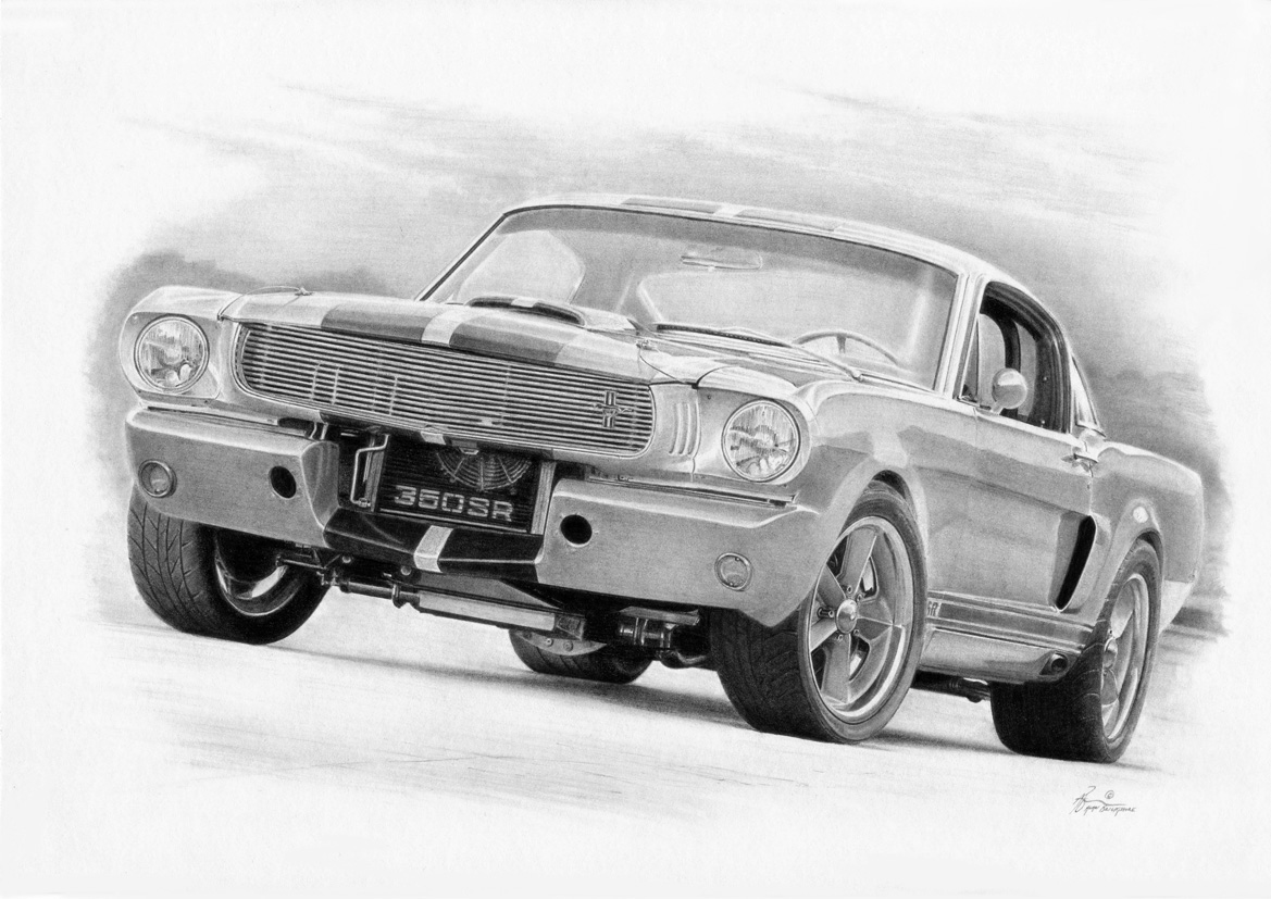 Mustang Drawings- Amazing Mustang Drawings by Alan B | MyRideisMe.com