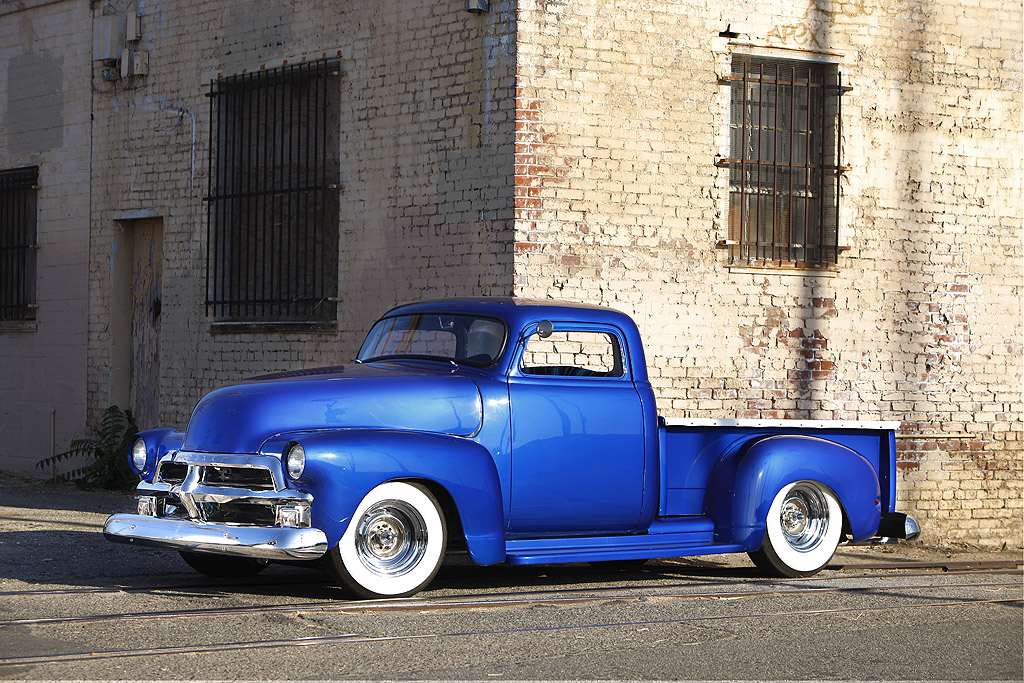 54 Chevrolet Pickup - Chopped, Dropped and Shaved | MyRideisMe.com