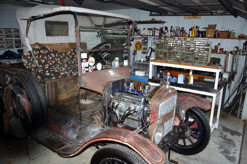 Hot rod skinning truck with OHC model T motor