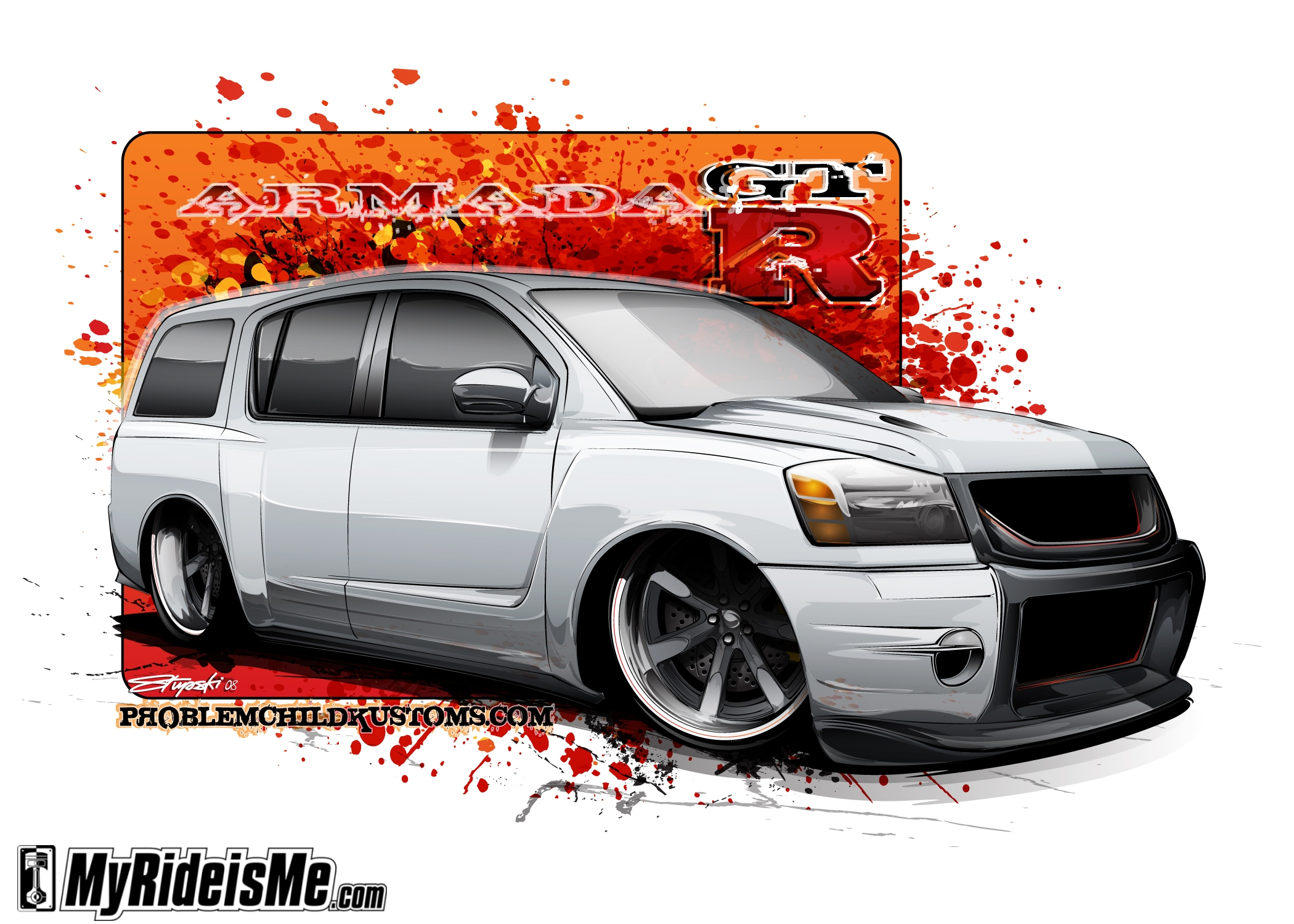 Nissan Armada GTR - Concept -custom concept drawing of cars