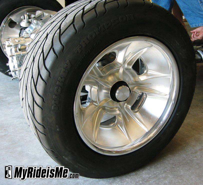 One-off, custom CNC knock-off wheels