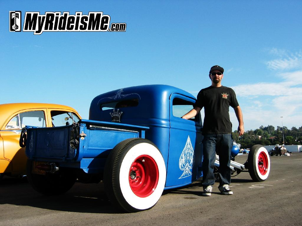 flat paint job, custom pinstriping, hot rod ford pickup