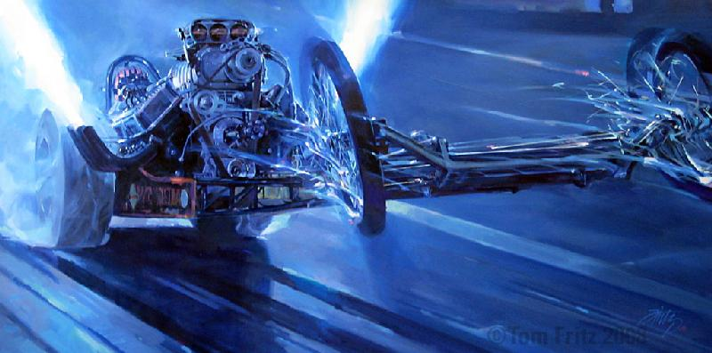 Hot Rod nostalgia drag racing artist painter paintings