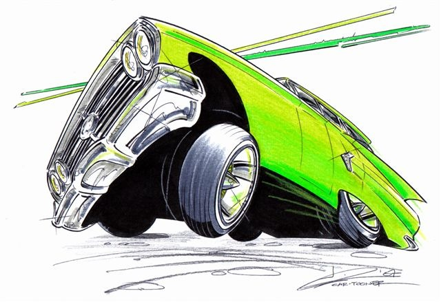 Scott Fisk Car Artist And Car Tooner