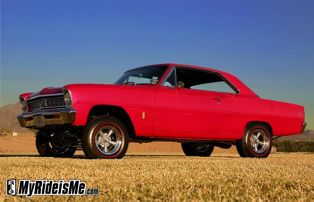 1966 Chevy II Super Sport done up gasser style