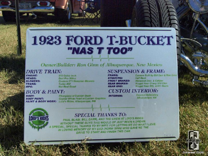 23 Ford T Bucket with 2 blowers!