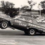 Gene Snow's wheels up Hemi Rambunctious in 1965