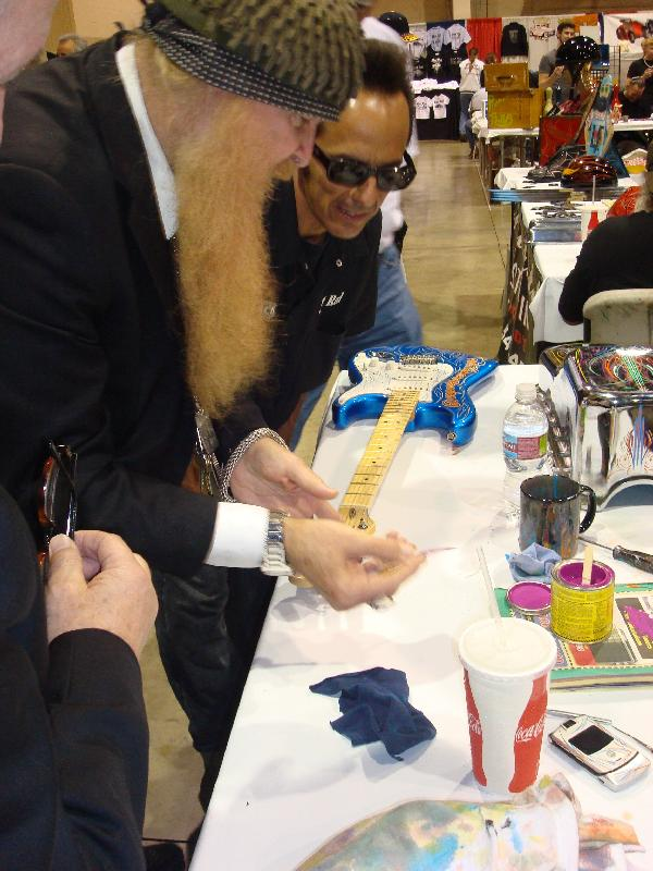 pinstriping, von hot rod, Billy Gibbons