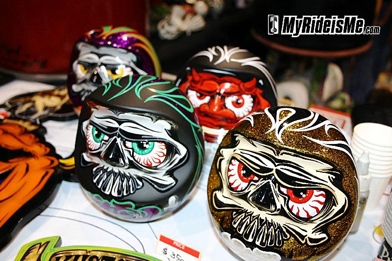 Japanese daruma painted and pinstriped by artist Ghost
