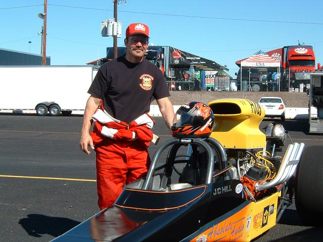 John Hill with his Mopar Magic Dragster