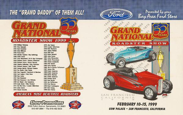 Flier from the 50th Annual Grand National Roadster Show