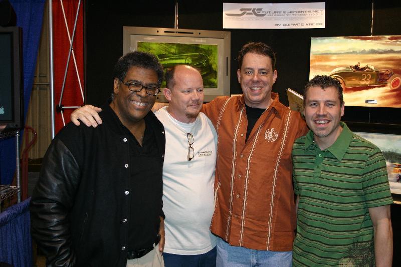 car artists Steve Stanford, Jimmy Smith, Brian Stupski and Dwayne Vance