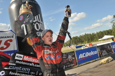Bob Tasca III after winning his first Wally in Funny Car