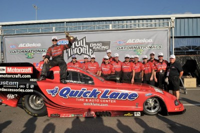 Bob Tasca III and his Motorcraft/Quicklane team