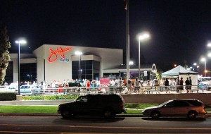Night picture from John Force Charity car show and Cruise