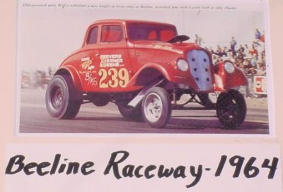 The Willy's Gasser original at Beeline Raceway in 1964