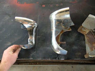 Custom Mercury 1950 compared to 1951 bumper guards