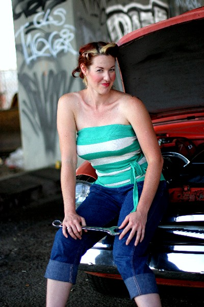 Pin Up? Mechanic? Say Hello to Grease Girl.