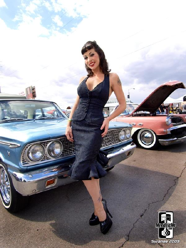 hot rod pinup model kim falcon viva las vegas VLV