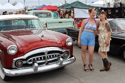 Pretty cars. Pretty ladies.