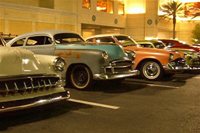 Classic Cars all in a row