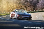 HellaFlush RX-7 'vert drift car with a Mustang 5.0L