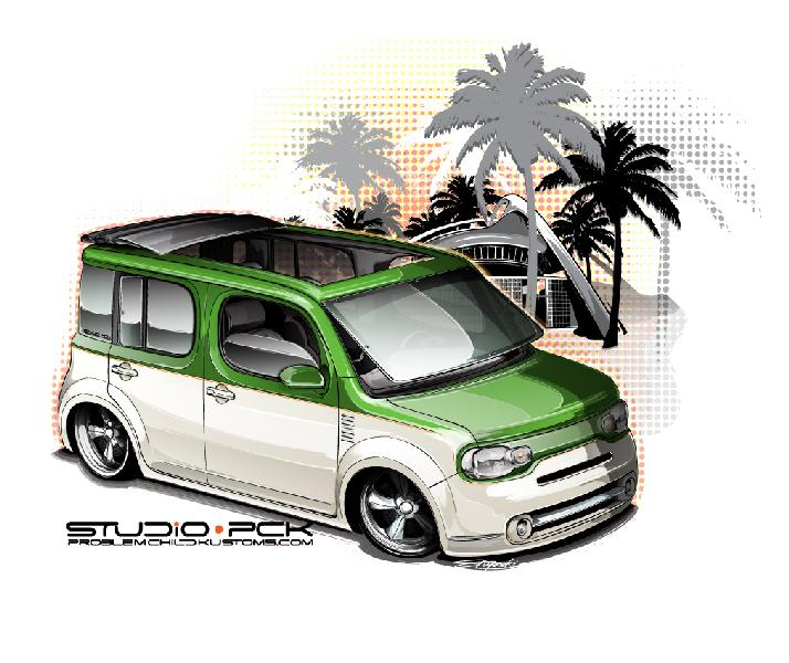Nissan Cube as designed by concept artist Brian Stupski