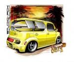 """Nissan Cube customized ala Ed """"Big Daddy"""" Roth"""