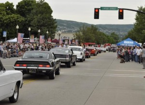 Bountiful, Utah Main Street parade of hot rods