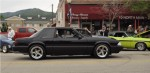 This blown 5.0L Fox Body Mustang coupe did well in the burnout contest