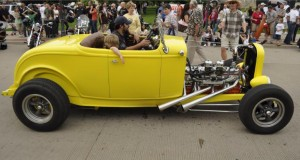 Son cruising in his dad's 32 straight 8 powered roadster=Memories!