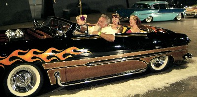 "Nice car called ""Rockabilly Playboy"" with the girls"