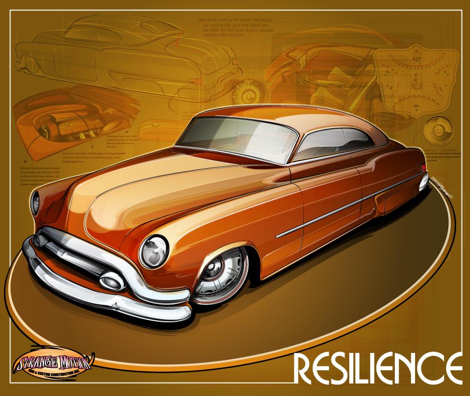 """1952 Buick Riviera Model 45R Custom Car """"Resilience"""" , custom buick"""