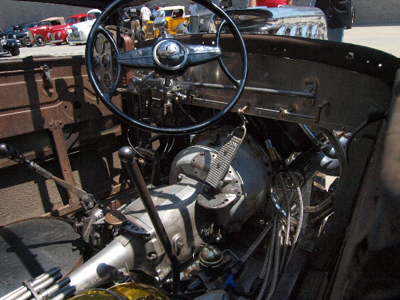 1930 Ford Coupe interior, hot rod model A
