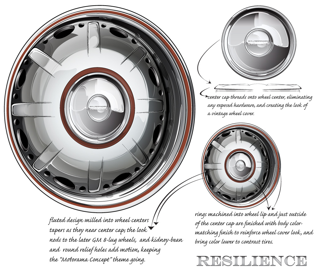 hot rod design, custom one off billet wheel design
