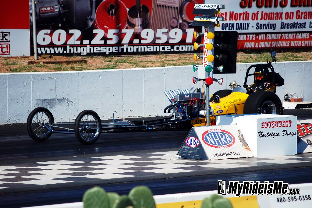 Nostalgia Drags: Front Engine Dragster powered by inline 6 Ford