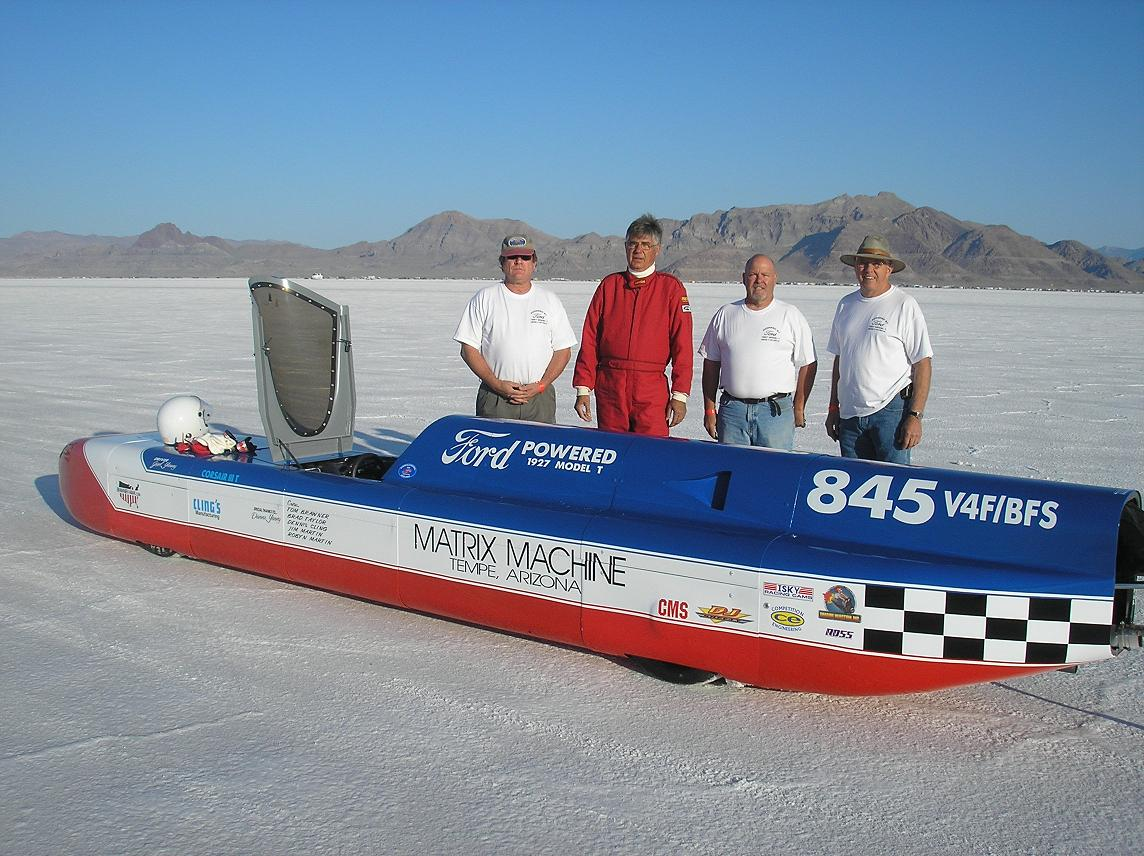 Bonneville Salt Flats, Streamliner - Model T 4 banger powered