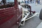 Bonneville Hot rod and salty exhaust from Salt Flats