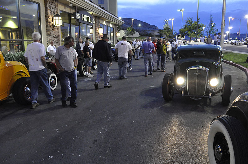 bonneville hot rods, nugget car show during speedweek