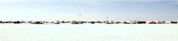 Bonneville Salt Flat horizon during Speedweek 2009