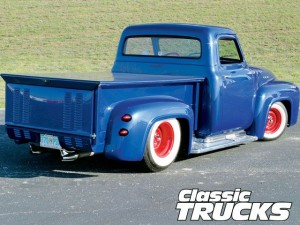 1953 Ford F100 with 1959 Cadillac Taillights and white walls