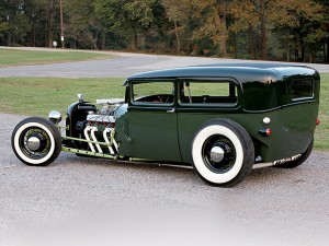 1928 Ford Lowboy Sedan hot rod