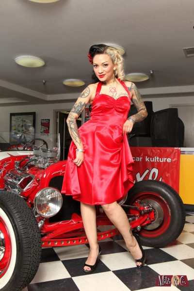 Hot Rod pinups, hot rod girls, tattoo pinup