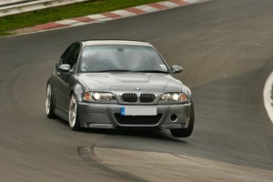 M3 CSL at Nurburgring cornering hard