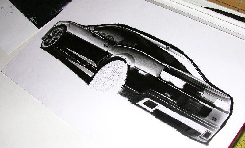 Drawing cars: 2010 Camaro SS sketch in progress | MyRideisMe.com