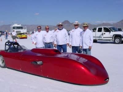 Bonner's Bad Berkeley, Salt Flats, speedweek, bonneville, fwd, 1959 Berkeley, donovan bbc, twin turbo, 300 mph