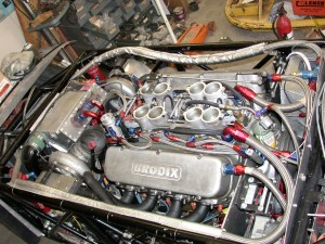 540 cu in twin turbo Big Block Chevy gets the Berk' rolling