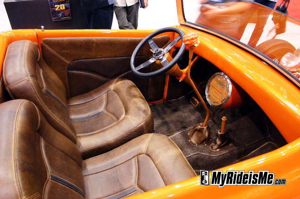 Hot rod roadster pickup custom leather interior