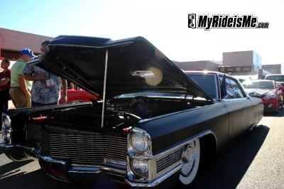 Diesel Hot Rod 1965 Cadillac outside at SEMA